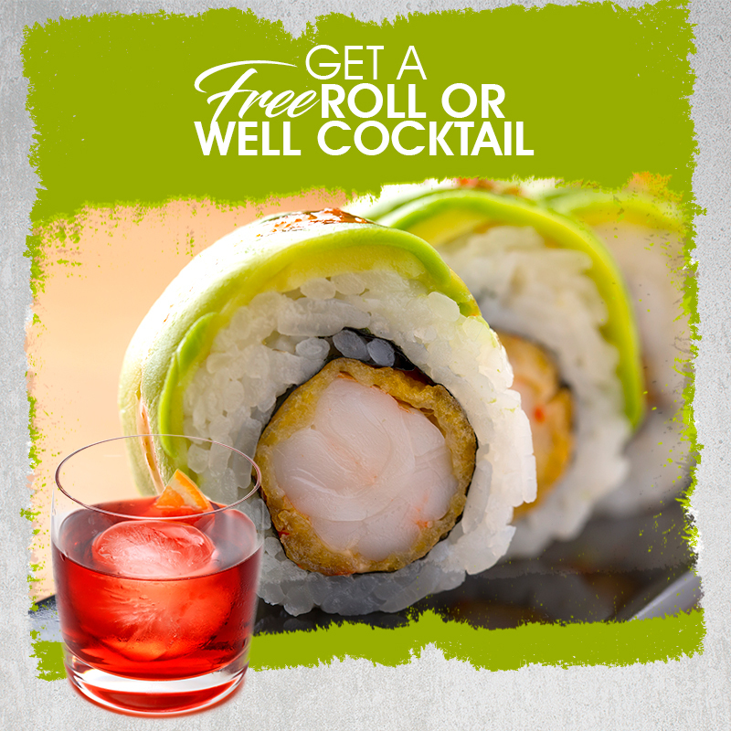 Get a free roll o well cocktail